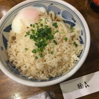 あげ玉生しょうゆうどん(やしま 円山町店)