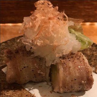 下仁田ネギの豚バラオーブン焼き 〜おろしポン酢〜