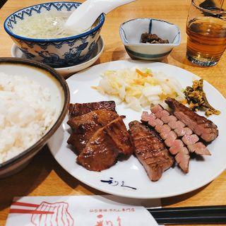 牛たん味くらべ定食(利久 あべのハルカスダイニング店 )