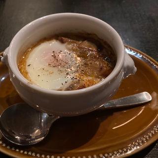 フォアグラとマッシュルームのソテー トリュフ風味バルサミコソース (ビストロ ナチュール (ビストロ エ ヴァン ナチュール))