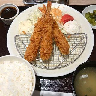海老フライ定食(みやこ 品川店 )