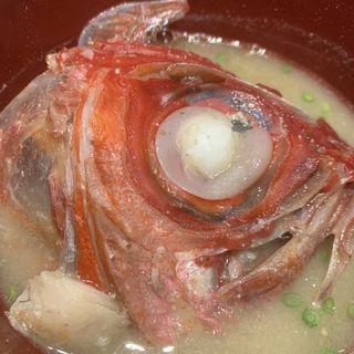 金目鯛のお味噌汁(ひょうたんの回転寿司)