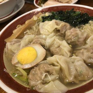 雲呑麺(わんたんめん) 塩清湯スープ(広州市場 新宿東口店 )