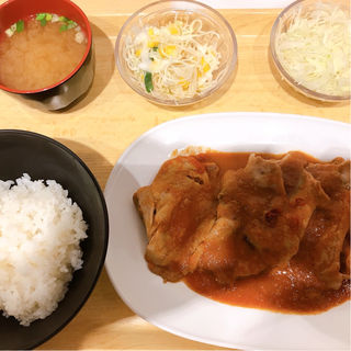 生姜キング定食(生姜キング 浅草橋本店)