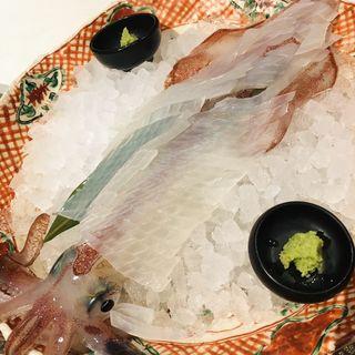 九州近海泳ぎいか活き造り(九州の旬 博多廊 福岡本店 (はかたろう))