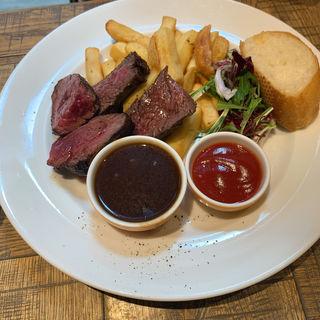 ブラックアンガス牛ハラミのステーキ(デリリウムカフェ ギンザ)