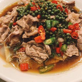 牛肉の山椒炒め(京華樓)