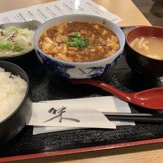 麻婆豆腐定食(牡蠣と国産和牛 品川商店)