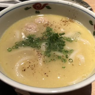 鶏スープあつかけうどん