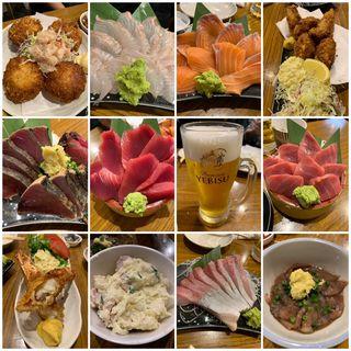 海鮮刺身&フライ&生ビール(タカマル鮮魚店 2号館 )