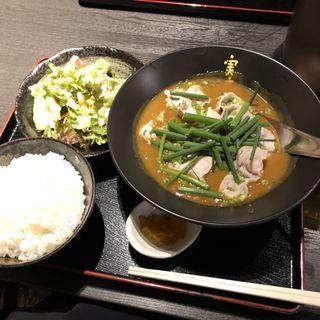 豚しゃぶスープかれーセット(かれー麺 実之和 赤坂店 )