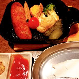 やんばる島豚のソーセージ(沖縄栗国島料理 あぐぅーん たまプラーザ店)