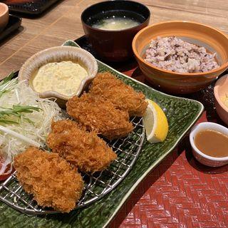広島産カキフライ定食(大戸屋ごはん処 宝塚安倉店)