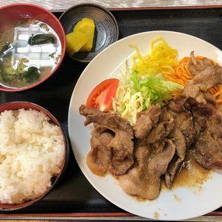 豚の生姜焼き定食(淀ヤ食堂 )