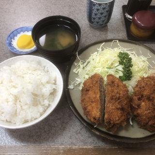 メンチカツ定食(かつ善 (かつぜん))