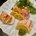 シャポーン鶏たたき(焼き鳥 松元 西中洲本店)