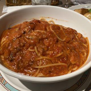 トマトとニンニクのスパゲティ(取り分けサイズ)(カプリチョーザ ヨドバシ梅田店 )