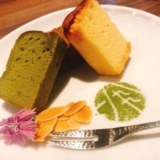 酒茶ケーキ ハーフ&ハーフ(GREEN TEA RESTAURANT 1899 OCHANOMIZU (グリーン ティー レストラン イチハチキュウキュウ))
