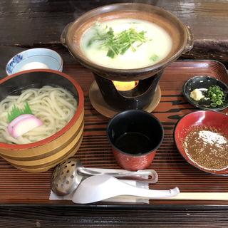 温泉湯豆腐うどんセット