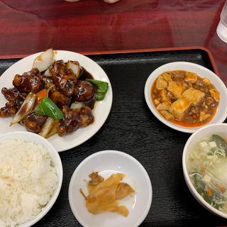 黒酢豚定食(中国料理東順永 (チュウゴクリョウリトウジュンエイ))