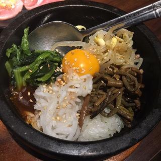 石焼ビビンバ(焼肉食べ放題 じゅうじゅう マーブルロード店)