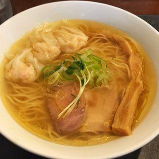 海老ワンタン塩ラーメン(らぁ麺やまぐち 辣式 (らつしき))