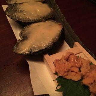 ウニトースト 竹炭バケット(八吉 横浜西口店 (やきち))
