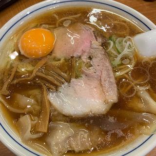 ワンタンメン生玉子(共楽)