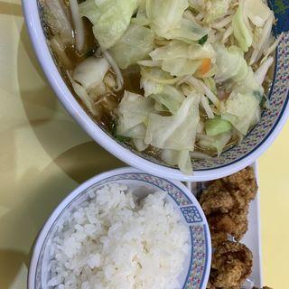 野菜いっぱいラーメン からあげセット(どうとんぼり神座  香芝SA店 (かむくら))