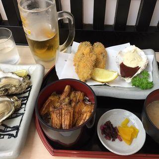牡蠣定食(焼がきの はやし )