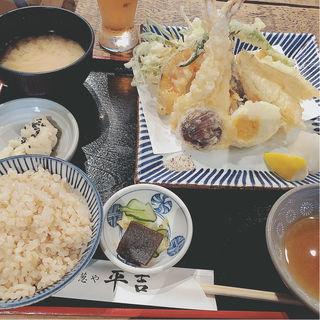 天ぷら定食+とろろ飯(葱や平吉 高瀬川店 (ねぎやへいきち))
