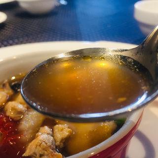 薩摩赤鶏ブロスと鮟鱇のスープ