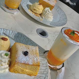 アールグレイアイスクリームフレンチトースト(Salon de Louis Jewelry Cafe)