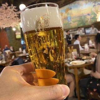 エビスビール グラス(ビヤホールライオン 銀座七丁目店 )