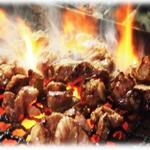 ハラミの炭火焼き