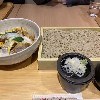 肩ロースかつ丼セット(蕎麦きり みよた 八重洲地下店)