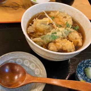 牡蠣天そば(蕎麦処 こだか)