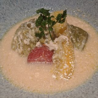 ロール春キャベツ 豆乳スープ煮(魚屋 がぶ )