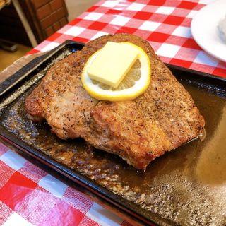 岩中豚ロースのステーキ