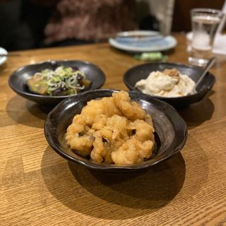 魚南蛮、チーズ豆腐、ナスの煮浸し(海の日  )