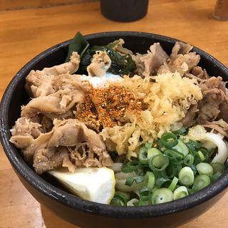スペシャルぶっかけ(牛肉豚肉入り)(麺処 綿谷 (めんどころ わたや))