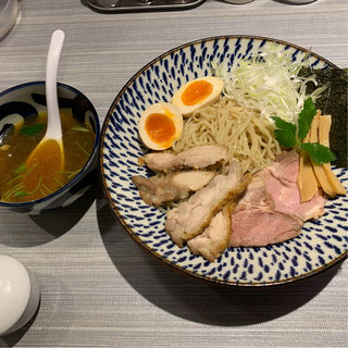 鶏と魚介の出汁つけ麺 肉増し(だし廊 Mix 3号店)