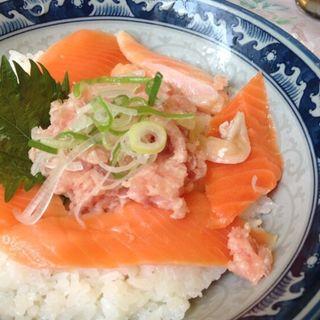 ネギトロサーモン丼(みなとや上野2号店 )
