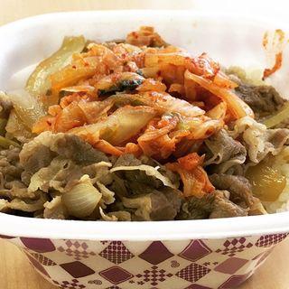 キムチ牛丼 大盛り(すき家 サカエチカ店 )