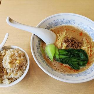 担々麺とミニ炒飯のセット(食事の店 ベリー)