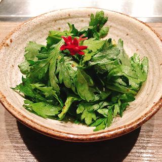 春菊サラダ(焼肉うしごろ 銀座店 )