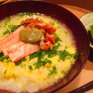 せこ蟹雑炊(料理 澤)