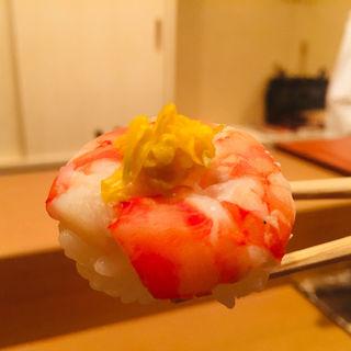 才巻き海老の手毬寿司(料理 澤)