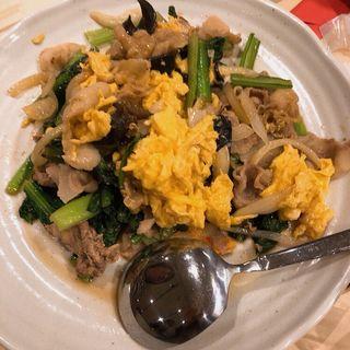 豚肉・卵・キクラゲの炒め物
