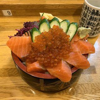 サーモン親子丼(生)(ファミリーすしガーデンハウス)
